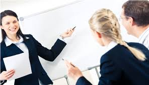 trainer at board